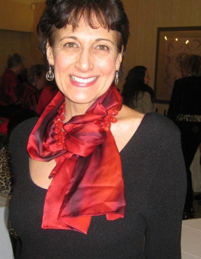 "Rosie in ""Joyful Charisma"" scarf"