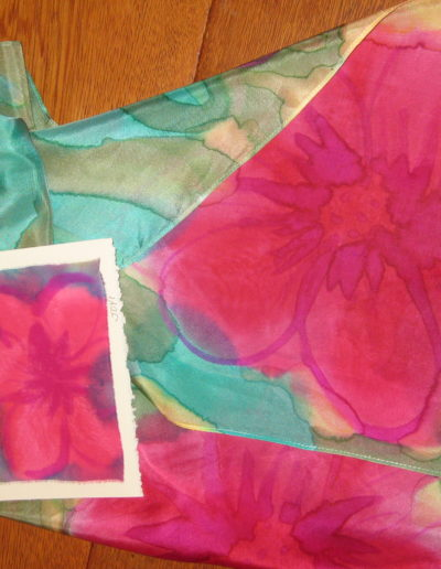 Silk Joy Scarves and greeting card