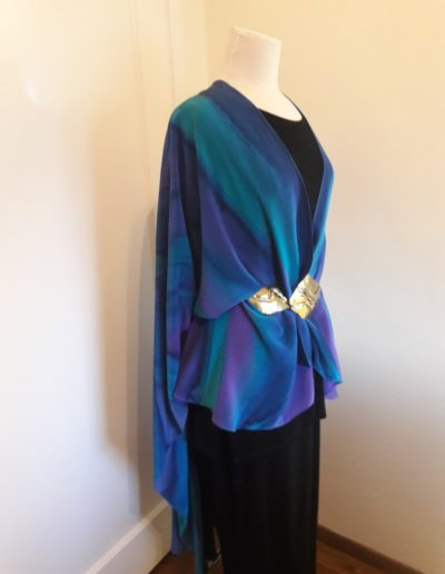 """Deep Peace"" Cape belted--1 in stock"
