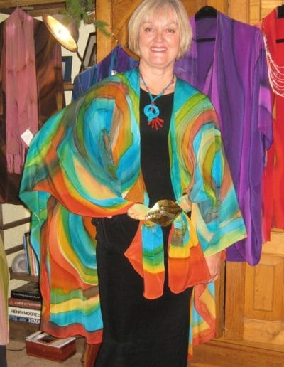 Carol in Joyful Artist Cape SOLD