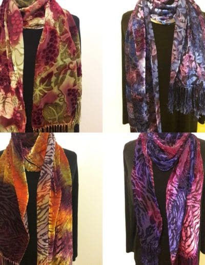 Cut velvet devore scarves $125