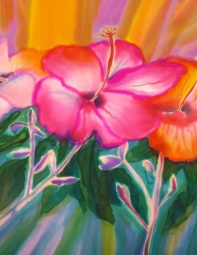 """Glory!"" Silk Wall Hanging $495 35"" x 35"""