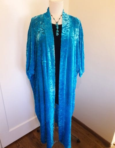 Sumaya Cut Velvet Duster--Sold