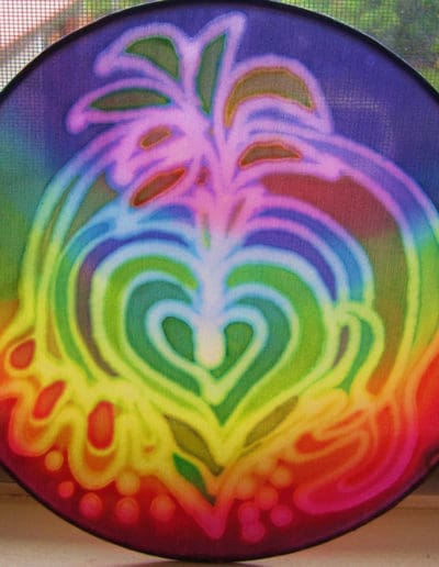 Blossoming Heart Silk Mandala