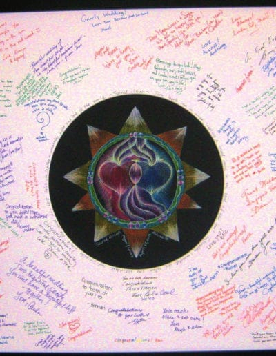 Sacred Union Mandala as wedding guest book